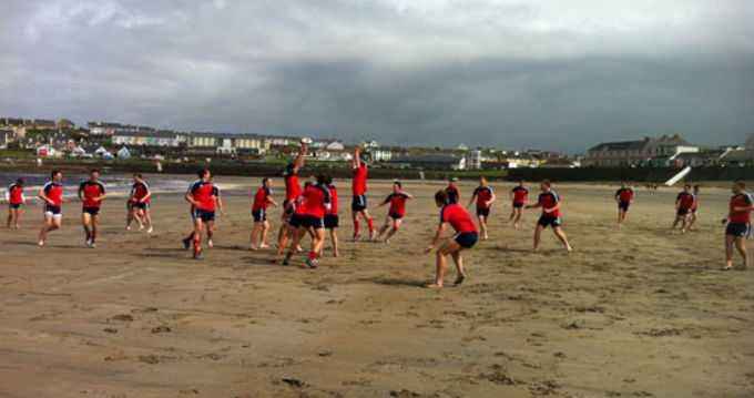 Munster U19 squad during a team bonding session at Kilkee, Co. Clare.