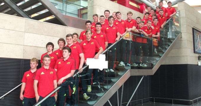 Munster U19 squad pictured at Cork airport en route to London
