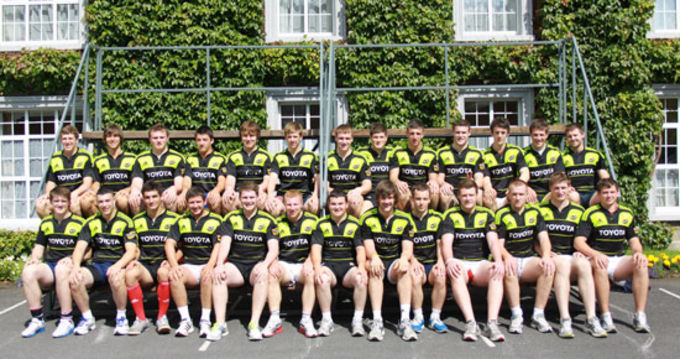 Munster U20 squad pictured at Rockwell College