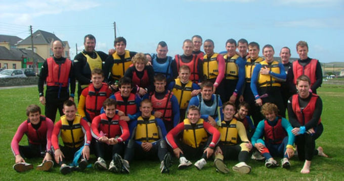 The Munster U20s enjoy a day out in Kilkee
