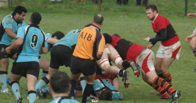 Wayne Falvey in action for UCC against Galwegians