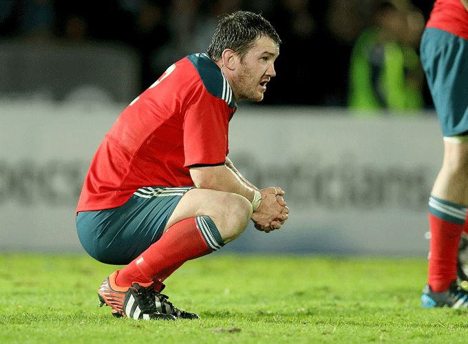 A disappointed Damien Varley following the full time whistle at Scotstoun Stadium