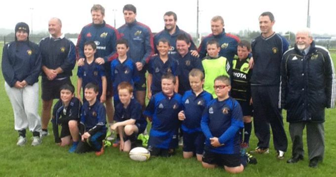 Munster players Ivan Dineen, Dave O Callaghan, James Cronin and Keith Earls pictured at Waterford City rugby club.