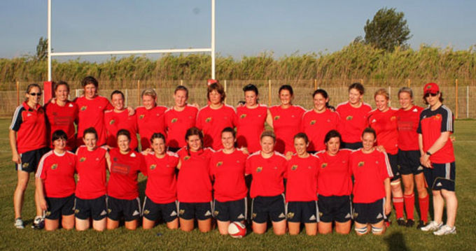 Munster Women's squad in France