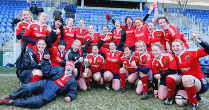 Celebration time for the Munster Women in Donnybrook
