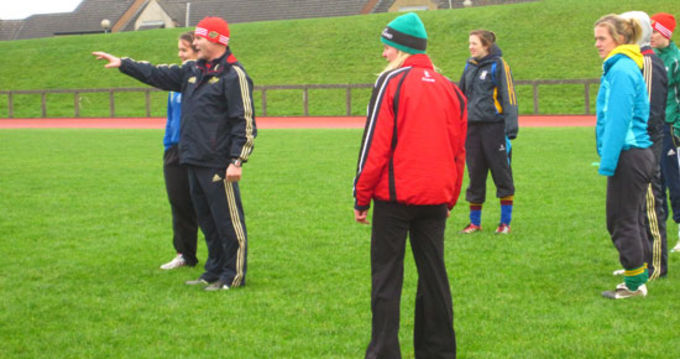 Female coaches taking part in the Munster Rugby Course at the University of Limerick