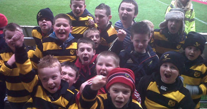 Young Munster U9's at Thomond Park