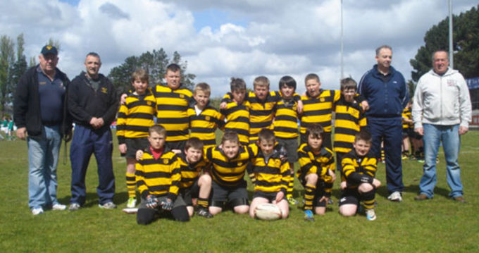 Young Munster U11 squad who took part in a tournament at Garryowen RFC