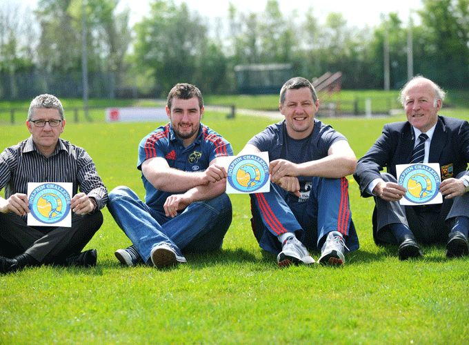 Munster & Dolphin's James Cronin and James Coughlan lend support to the Dolphin Challenge & Family Fun Day