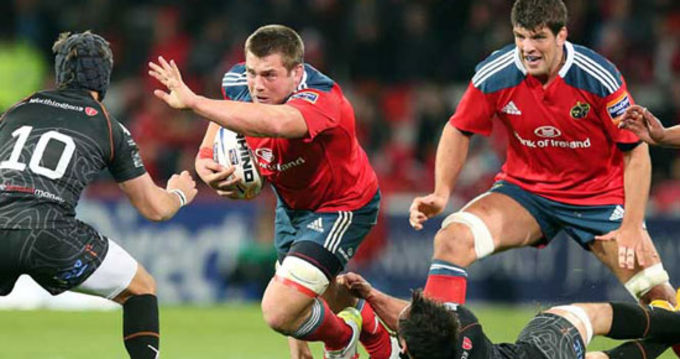 CJ Stander on the charge