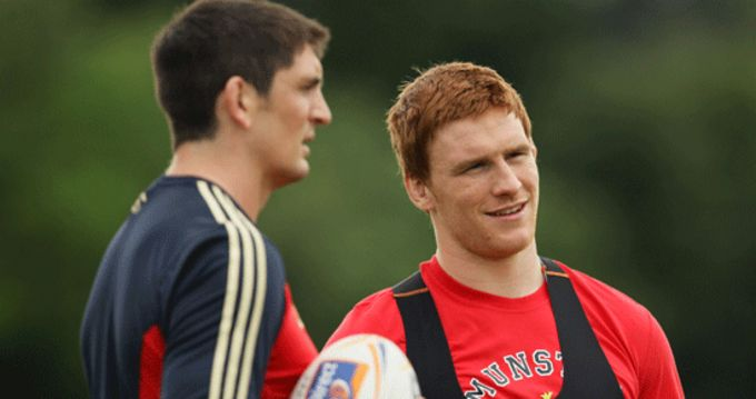 James Downey and Sean Dougall pictured at training today in UL