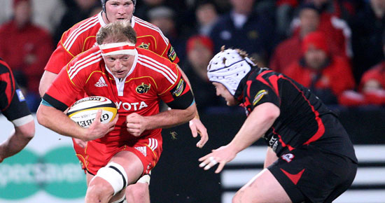 Munster v Edinburgh on Friday the 18th of Feb. in Thomond Park