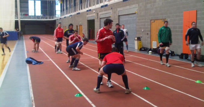 Munster training indoors at UL